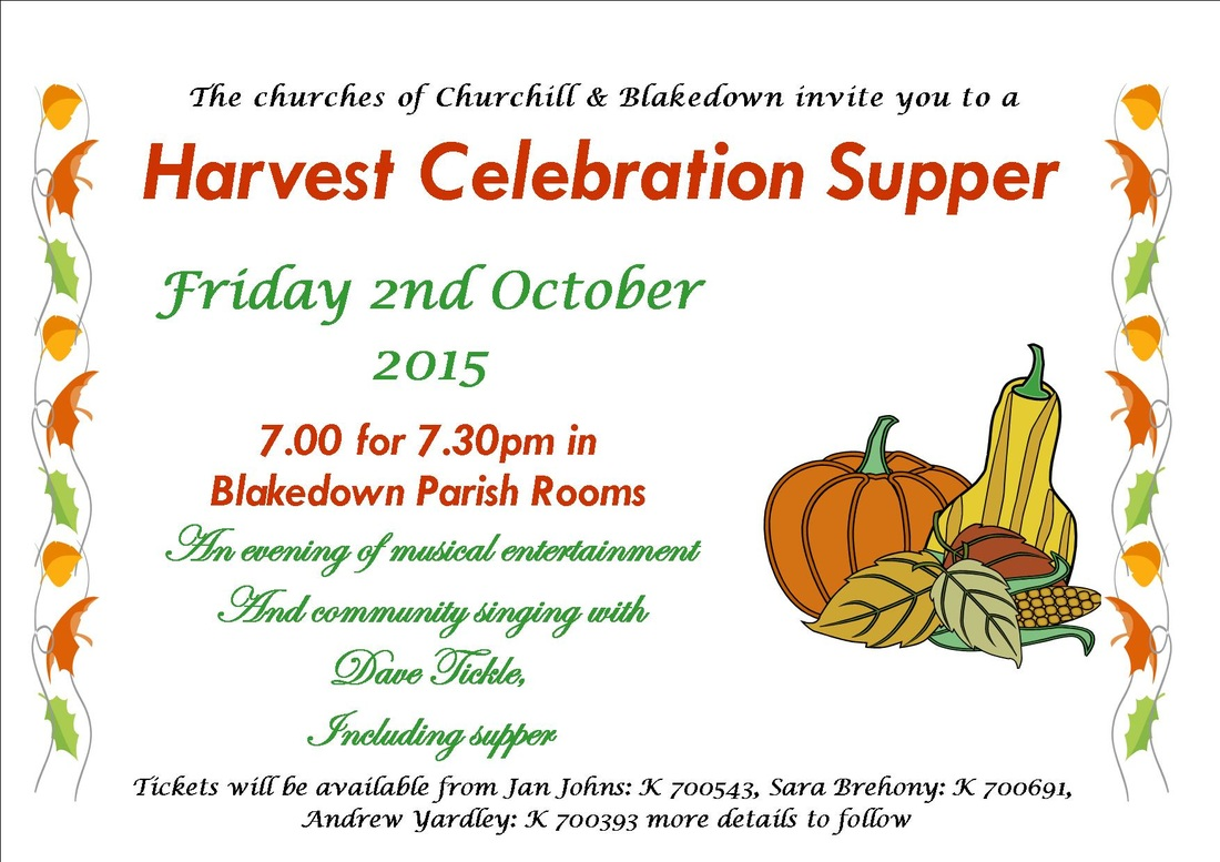 benefice mission group harvest supper poster