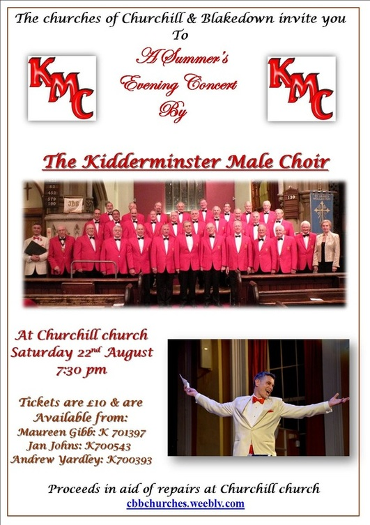 The Benefice Mission Group Kidderminster Male Choir concert poster