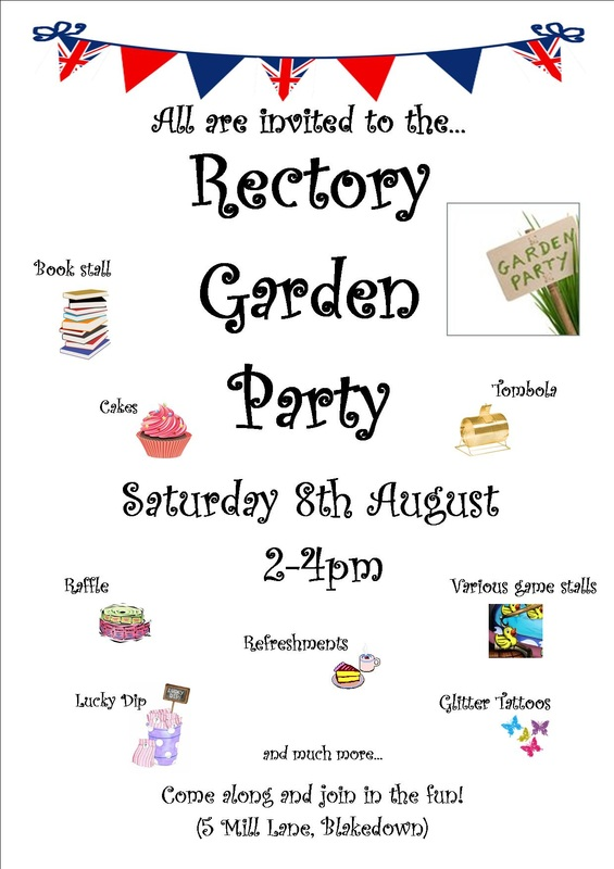 The Benefice mission group; Rectory garden party poster