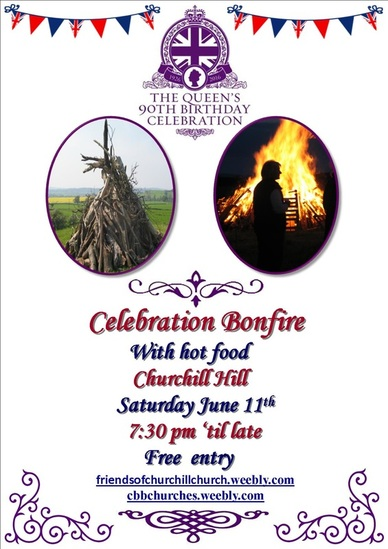 Queen's 90th Birthday Celebration Bonfire poster